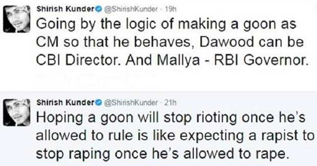 SHOCKING Shirish Kunder in trouble again for his controversial tweets