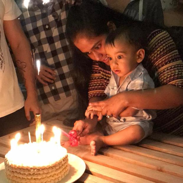 Salman Khan's nephew Ahil Sharma turns one and his first birthday bash was a grand success-1