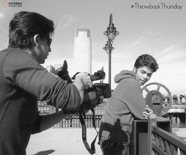 Shah Rukh Khan turns into a photographer for Karan Johar in this throwback photo