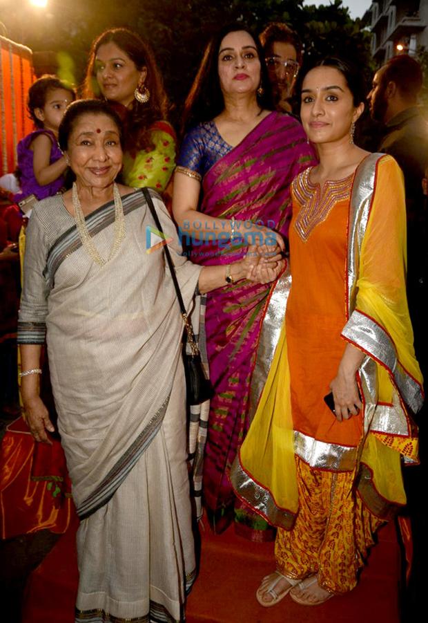 Shraddha Kapoor goes traditional on Gudi Padwa at the inauguration of Pandit Pandharinath Marg-1