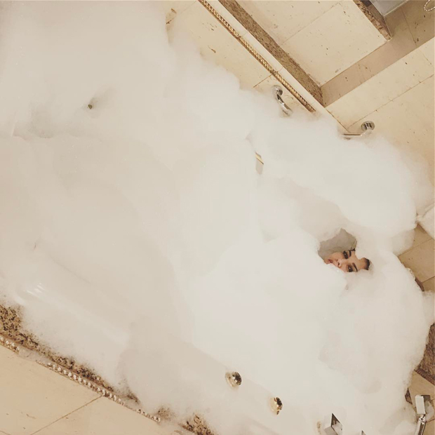 Sunny Leone posts an image of her bubble bath in a tub Features Features