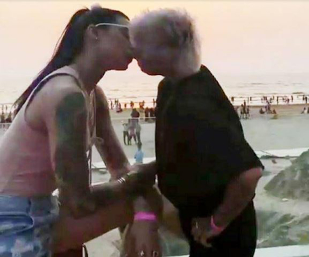 This picture of Bani J and Sapna Bhavnani kissing is breaking the internet