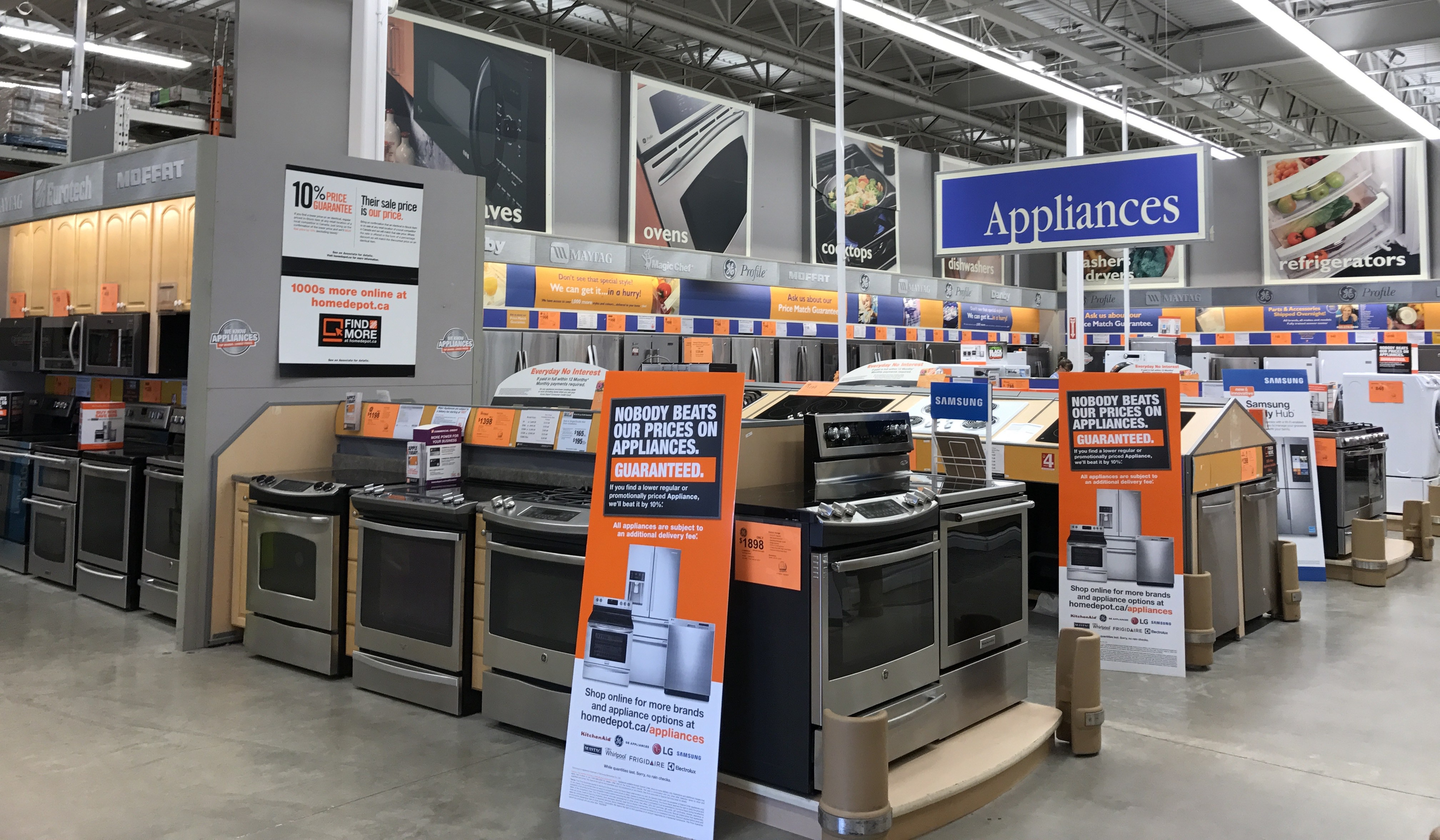 Home Depot store departments can see the same inventory as web customers