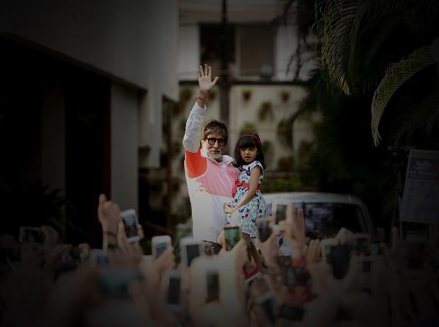 Aaradhya Bachchan joins her grandpa Amitabh Bachchan to greet fans-2