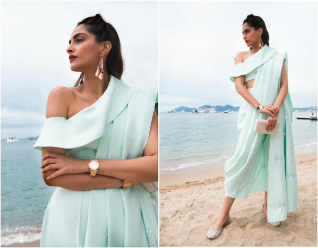 Cannes 2017 Sonam Kapoor's trouser saree is perfect blend of Indian and western culture for this hot summer-2