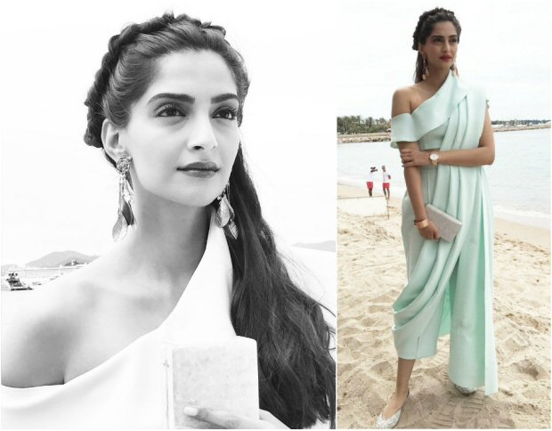 Cannes 2017 Sonam Kapoor's trouser saree is perfect blend of Indian and western culture for this hot summer-4