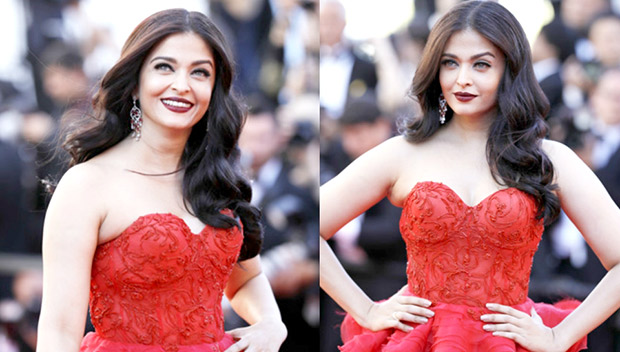 HOT Aishwarya Rai Bachchan steals the show in red ruffled gown at Cannes 2017 (1)