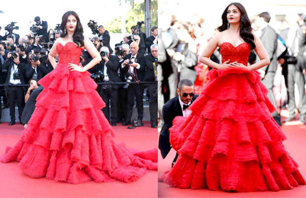 HOT Aishwarya Rai Bachchan steals the show in red ruffled gown at Cannes 2017 (2)
