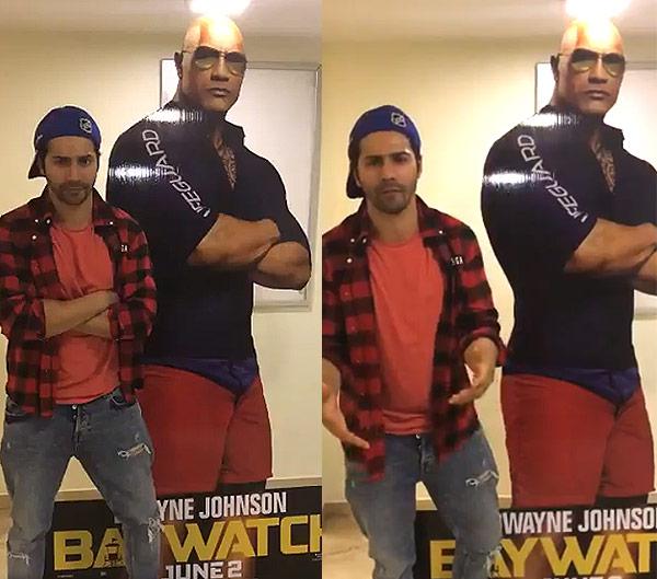 Baywatch Buddies This conversation between Priyanka Chopra, Varun Dhawan and Dwayne Johnson is heartwarming