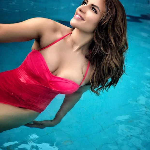 HOT! Shama Sikander sizzles in this SEXY red swimsuit