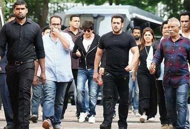 Salman Khan shoots with Shah Rukh Khan for Aanand L Rai's next film