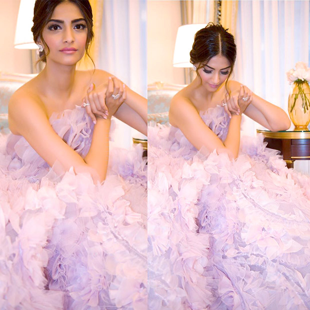 Sonam Kapoor stuns in a beautiful lilac gown at the Paris Couture Week after party-1