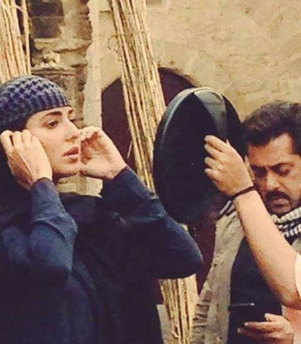 CAUGHT ON SET Salman Khan and Katrina Kaif prep for a scene for Tiger Zinda Hai