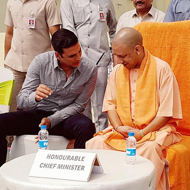 Check out Akshay Kumar and Bhumi Pednekar meet UP Chief Minister Yogi Adityanath to kick-start cleanliness drive (2)