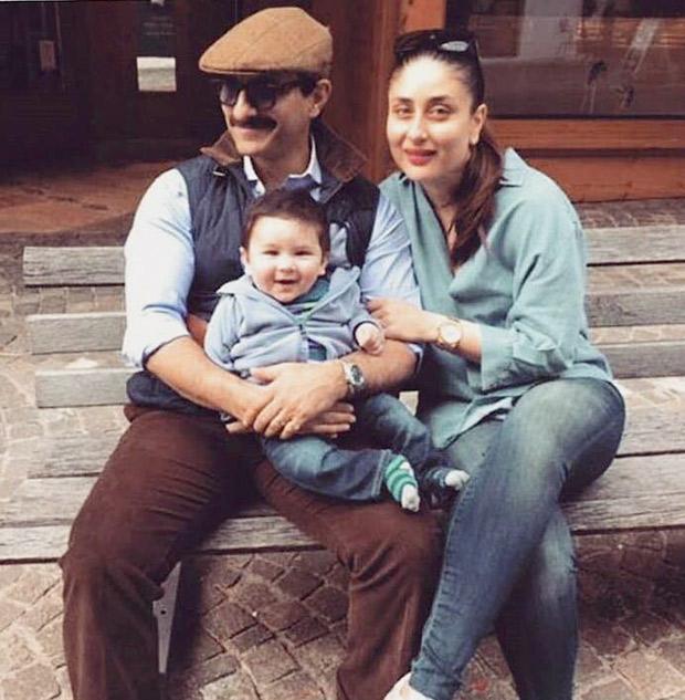 Check out Saif Ali Khan and Kareena Kapoor Khan pose with baby Taimur during their Switzerland vacation (1)