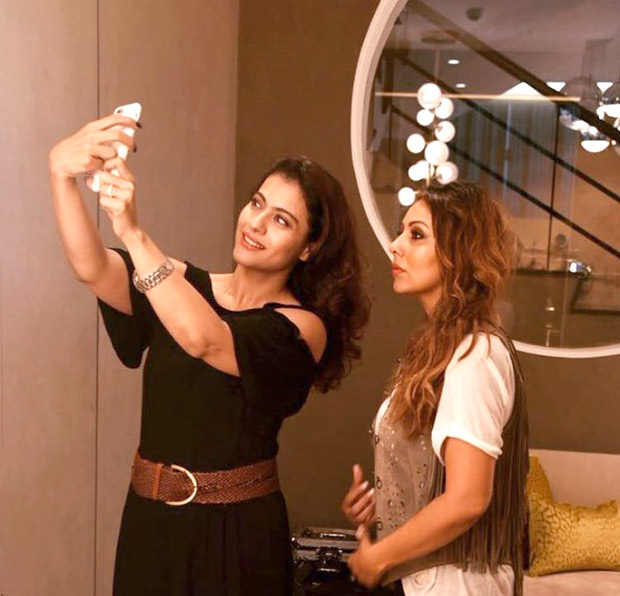 Check out Shah Rukh Khan's real and reel life ladies Gauri Khan and Kajol bond at her new store!
