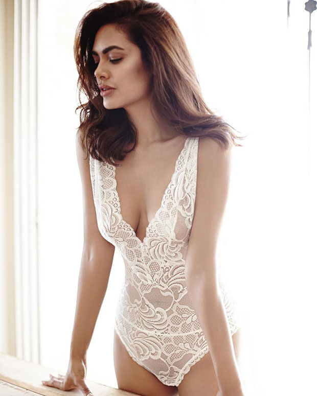 Esha Gupta's latest images in white lingerie will certainly make you drool_01