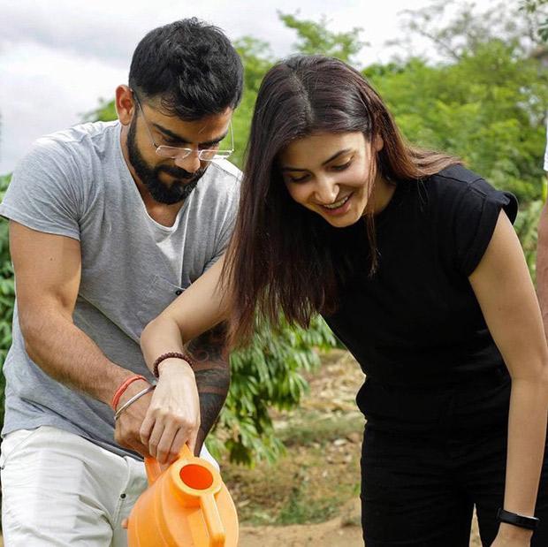 Go Green! Anushka Sharma and Virat Kohli plant a sapling in Sri Lanka
