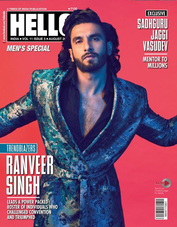 HOT! Ranveer Singh kills it with his charm on Hello's magazine cover