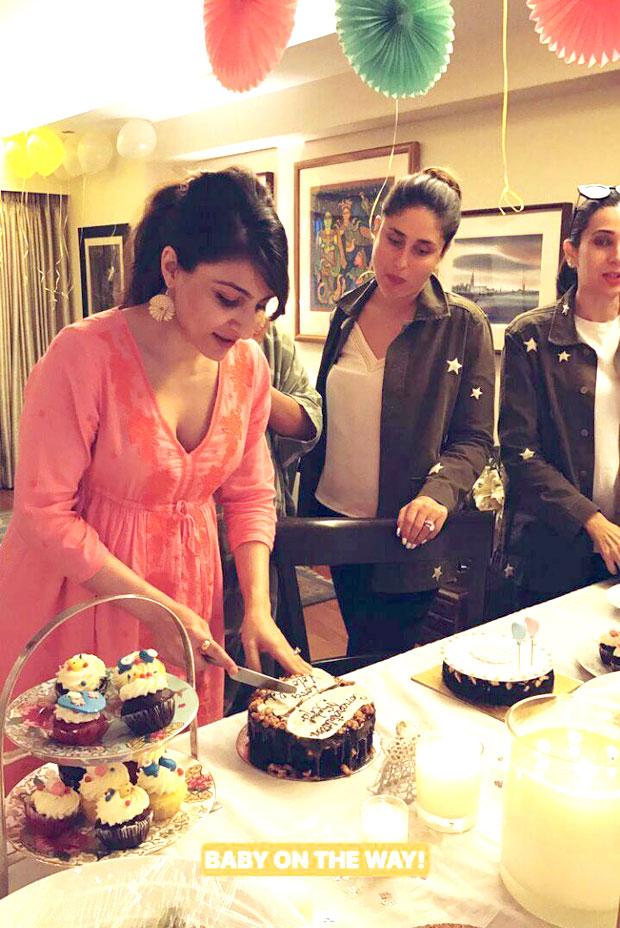 INSIDE VIDEO Soha Ali Khan cuts a cake and enjoys her baby shower with Kareena Kapoor Khan and Karisma Kapoor
