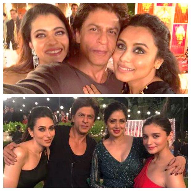 Shah Rukh Khan reunites with Kuch Kuch Hota Hai ladies Kajol and Rani Mukerji; poses with Sridevi, Karisma Kapoor, Alia Bhatt