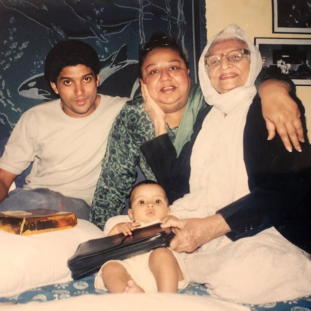 CUTE! Farhan Akhtar shares a wonderful throwback picture of daughter, mother and grandmother