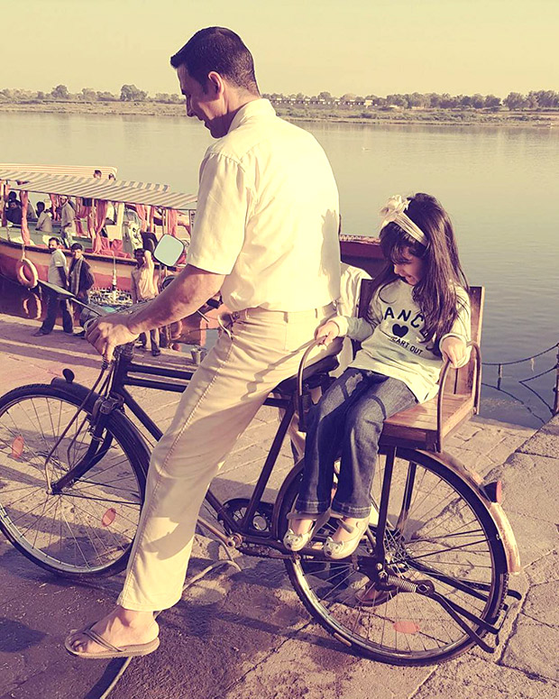 Children's Day Special Akshay Kumar and daughter Nitara are the cutest daddy-daughter duo on a cycle ride