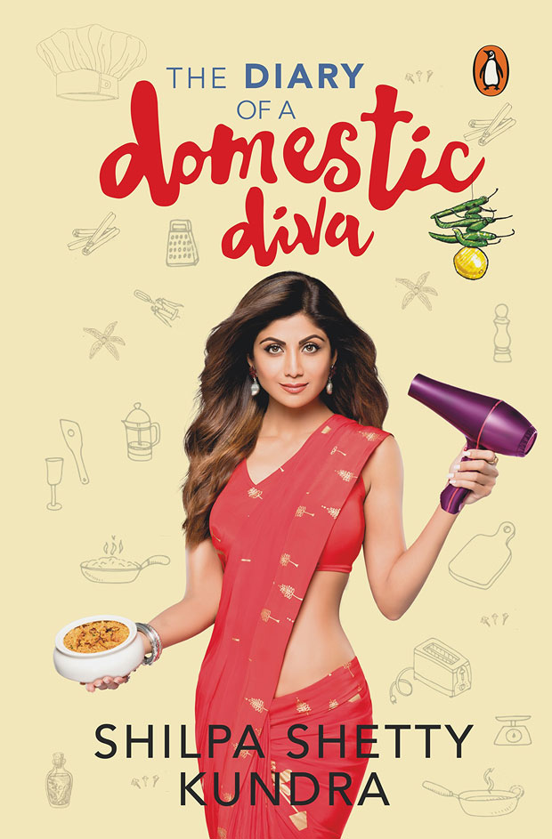 Here's the cover of Shilpa Shetty's book 'The Diary of a Domestic Diva' features