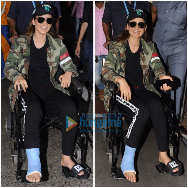 Kangana Ranaut injures her right leg on the sets of Manikarnika-1