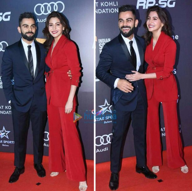 Power couple Anushka Sharma and Virat Kohli looked much in love at Indian Sports Honours 20171