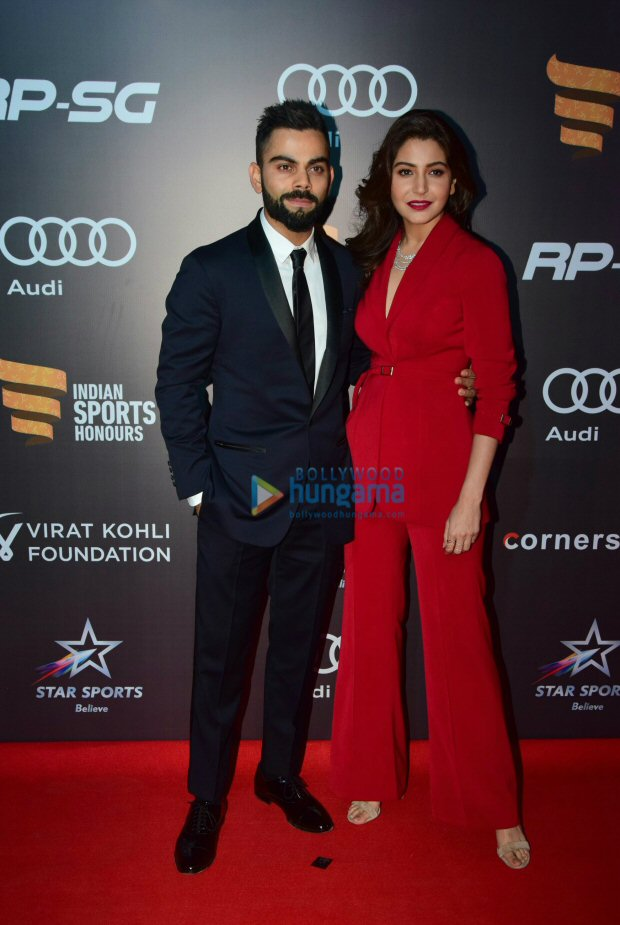 Power couple Anushka Sharma and Virat Kohli looked much in love at Indian Sports Honours 20172