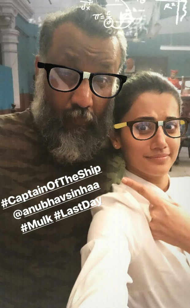 Taapsee Pannu starrer Mulk wrapped up in a funny way and here are the pictures-3