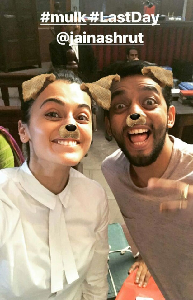 Taapsee Pannu starrer Mulk wrapped up in a funny way and here are the pictures-6