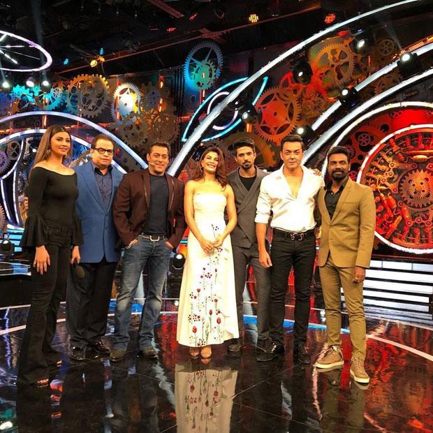 WHOA! Salman Khan is excited as Race 3 team including Jacqueline Fernandez visit Bigg Boss set