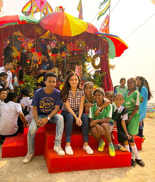 WOW! Dia Mirza celebrates Children's Day with kids from Scrappy News Service (4)