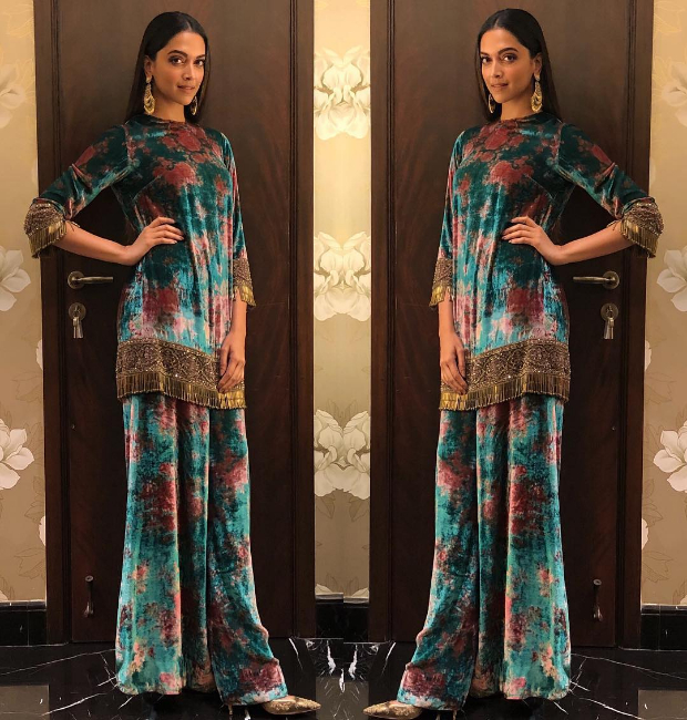 Deepika Padukone in Sabyasachi for Padmaavat promotions