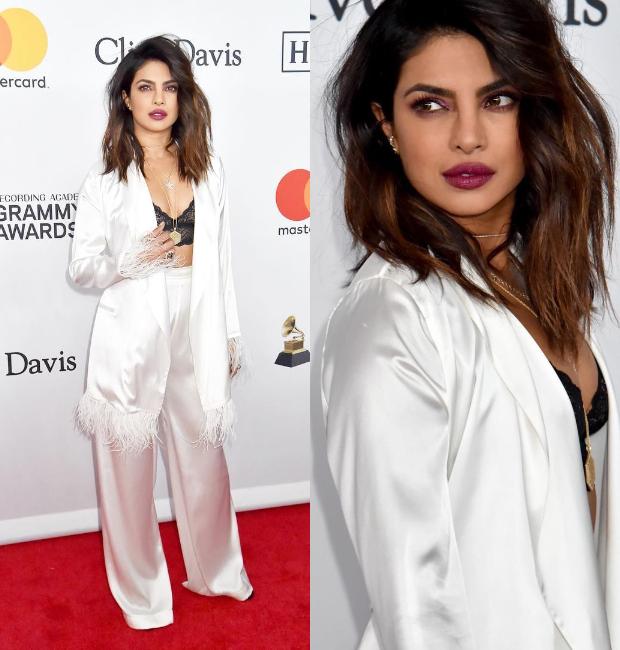 Priyanka Chopra makes heads turn at Clive Davis' Pre-Grammy 2018 party