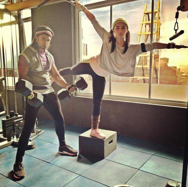 #MondayMotivation: Ranveer Singh and Alia Bhatt give partner goals in their latest gym photo