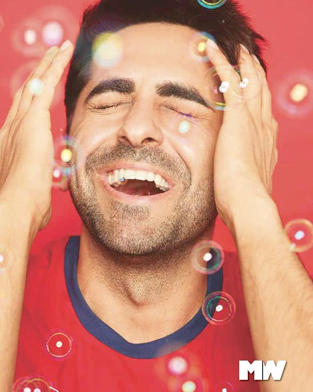 Ayushmann Khurrana soaks up bubbles
