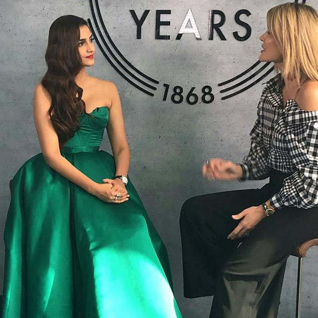 Sonam Kapoor looks gorgeous in green