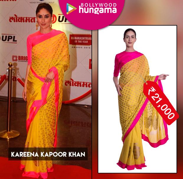 Weekly Celebrity Splurges - Kareena Kapoor Khan in saree