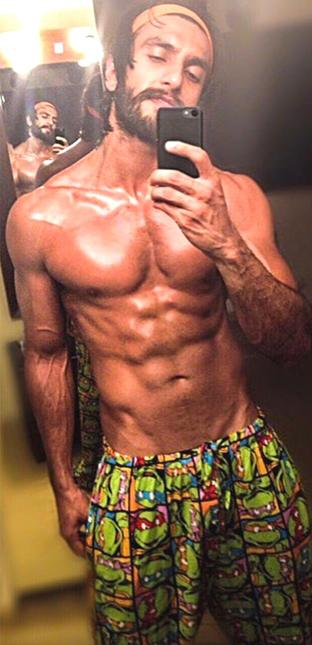 COWABUNGA! Ranveer Singh flaunts his chiselled body as he beefs up for Simmba