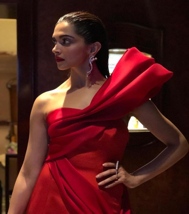 Deepika Padukone smouders in red at Met Gala 2018