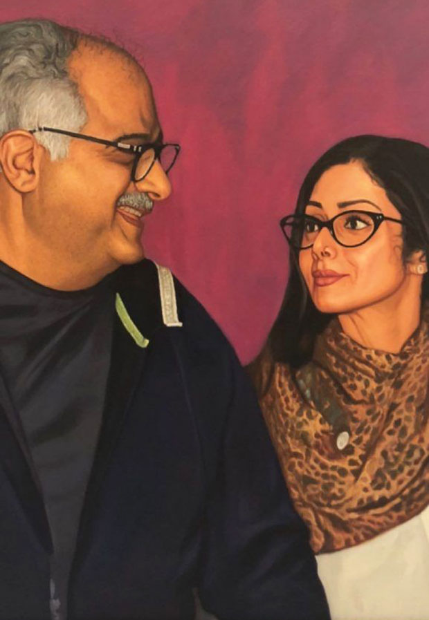 Janhvi Kapoor shares a beautiful image of Boney Kapoor and Sridevi