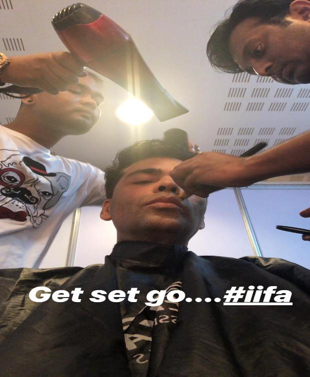 Karan Johar gets prepped for IIFA 2018 Awards hosting
