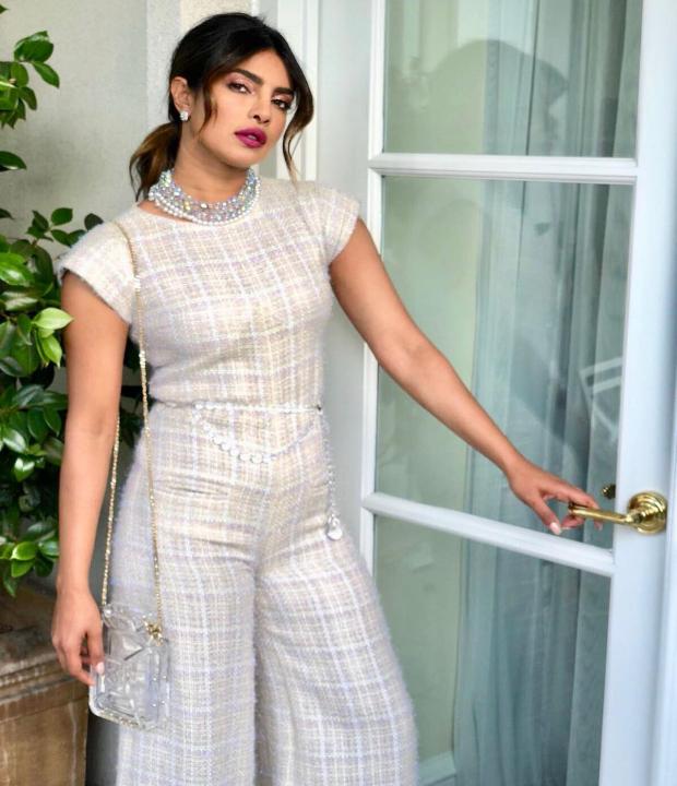 Priyanka Chopra for the Chanel dinner in California