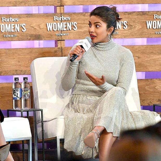 Priyanka Chopra speaks at Forbes Women's Summit 2018