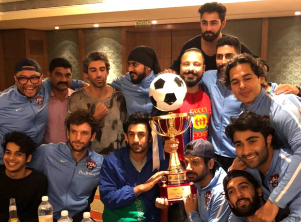 Ranbir Kapoor wins celebrity football match
