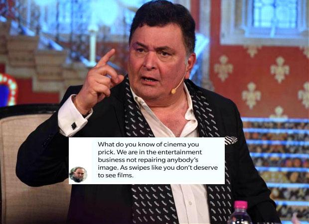 Rishi Kapoor abuses a Twitter user for criticizing Ranbir Kapoor's Sanju trailer