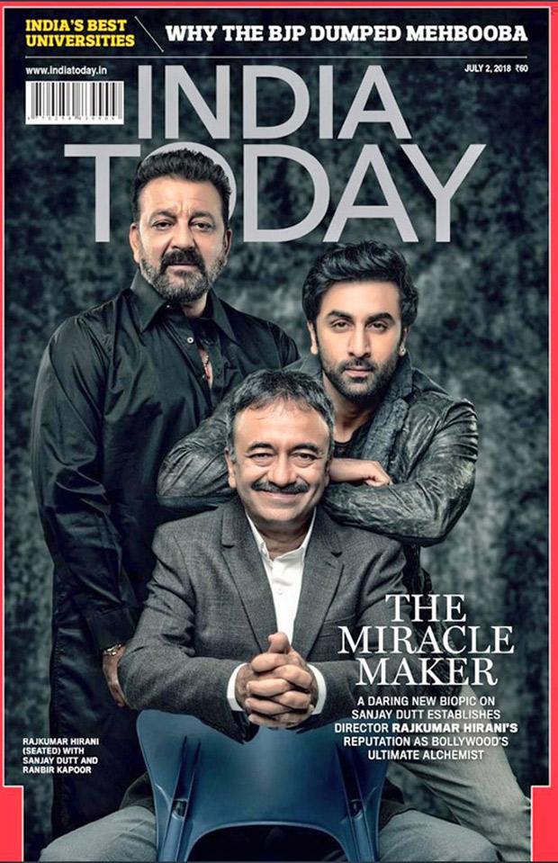 SANJU: Rajkumar Hirani strikes a pose with Sanjay Dutt and Ranbir Kapoor on India Today cover